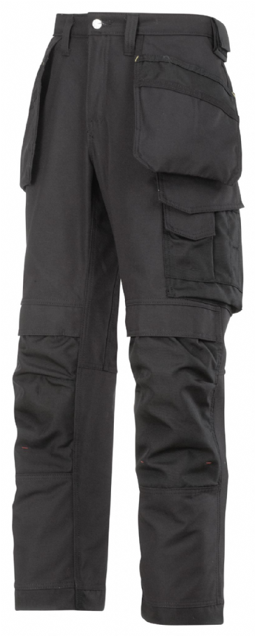 Snickers 3214 Canvas+ Craftsmen Holster Pocket Trousers (Black)